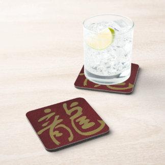 Dragon chinois de calligraphie dessous-de-verre