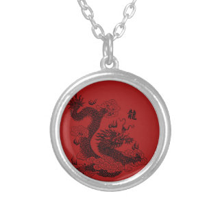 Dragon chinois pendentif rond