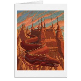 Dragon d'automne carte de vœux