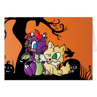 Dragon de bébé et carte de loup