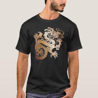 Dragon de cuivre sur T noir - T-shirt