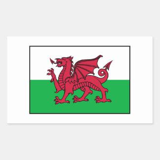 Dragon de drapeau du Pays de Galles Gallois Autocollant