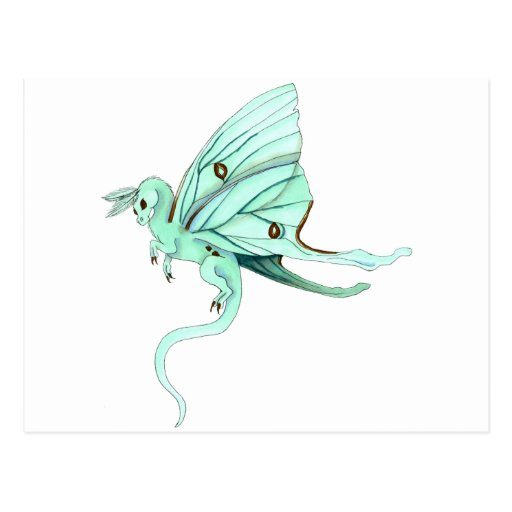 Dragon de fée de mite de Luna Cartes Postales