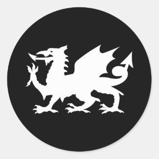Dragon de Gallois Autocollant Rond