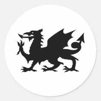 Dragon de Gallois Adhésif Rond