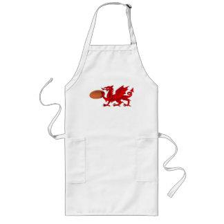 Dragon de Gallois avec un tablier de cuisine de