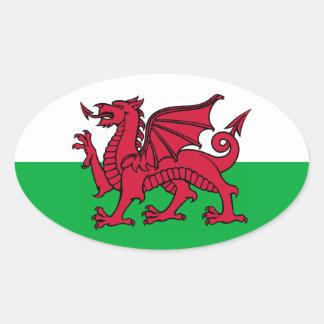 Dragon de Gallois Sticker Ovale