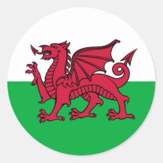 Dragon de Gallois Sticker Rond