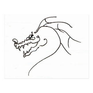 Dragon de gribouillage carte postale