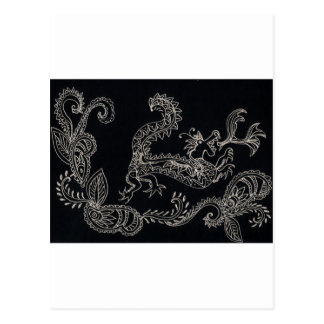 dragon de henné carte postale