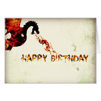 Dragon de joyeux anniversaire carte de vœux