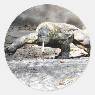 Dragon de Komodo sur les autocollants de chasse