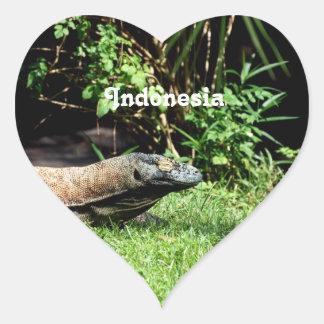 Dragon de l'Indonésie Komodo Sticker Cœur