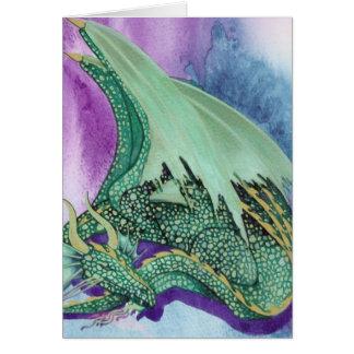 dragon de sommeil carte de vœux