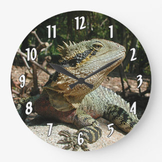Dragon d'eau australien grande horloge ronde