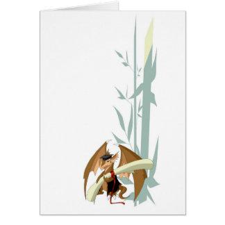 Dragon d'obtention du diplôme avec la carte de