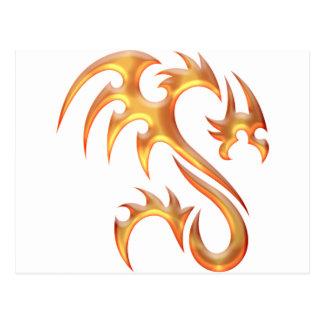 Dragon d'or cartes postales
