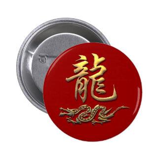 Dragon d'or de zodiaque chinois pin's
