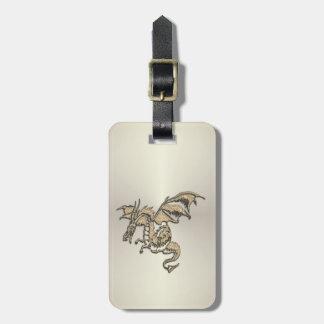 Dragon d'or étiquette à bagage