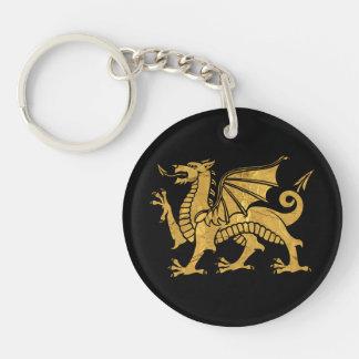 Dragon d'or porte-clefs