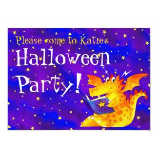 Dragon drôle de Halloween de l'enfant fait sur Carton D'invitation 12,7 Cm X 17,78 Cm