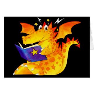 Dragon drôle fait sur commande du bébé de l'enfant cartes