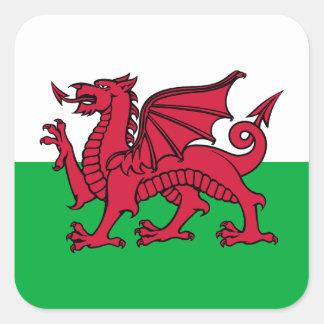 Dragon du Pays de Galles Sticker Carré