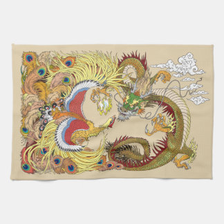 Dragon et Phoenix chinois Serviettes Éponge