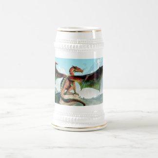 Dragon été perché chope à bière