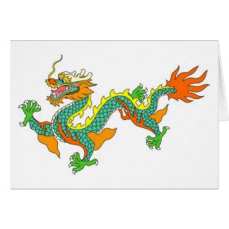 dragon, impérial, un dieu, déesse, seigneur, carte de vœux