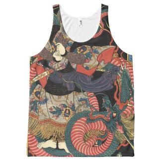 Dragon japonais vintage débardeur tout-imprimé