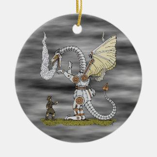 Dragon mécanique ornement rond en céramique