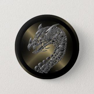 Dragon métallique tribal badges