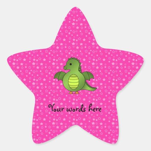 Dragon mignon de bébé stickers en étoile