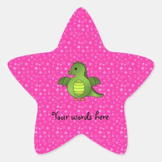Dragon mignon de bébé sticker étoile