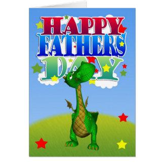 Dragon mignon de carte de fête des pères