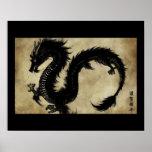 Dragon noir affiches