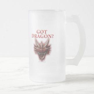 Dragon obtenu ? frosted glass beer mug