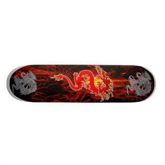 Dragon on Fire Skateboard