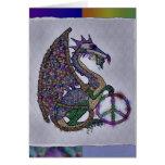 Dragon orné de bijoux de paix cartes de vœux