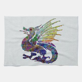 Dragon orné de bijoux linges de cuisine