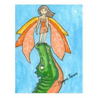Dragon plus docile la carte postale féerique