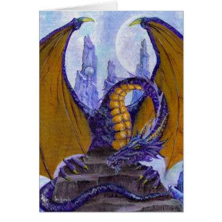 dragon pourpre carte de vœux