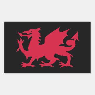 Dragon rouge de Gallois Stickers En Rectangle