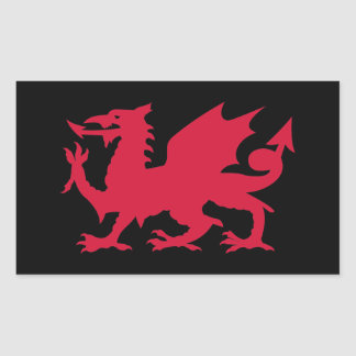 Dragon rouge de Gallois Sticker Rectangulaire