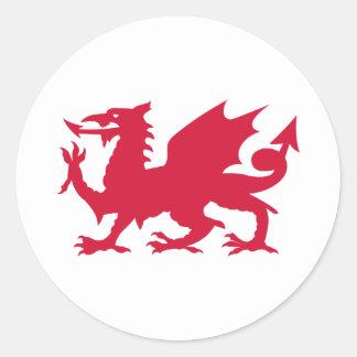 Dragon rouge de Gallois Sticker Rond