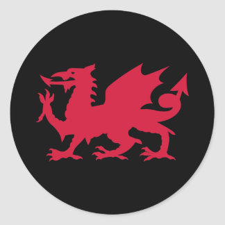 Dragon rouge de Gallois Sticker Rond