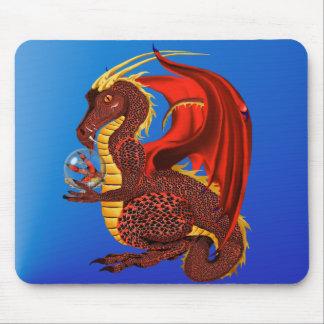 Dragon rouge Mousepad de fortune Tapis De Souris