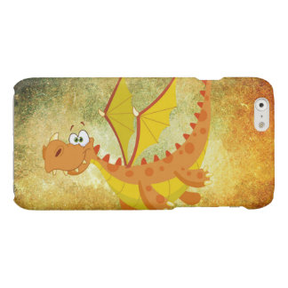 Dragon sur une texture orange