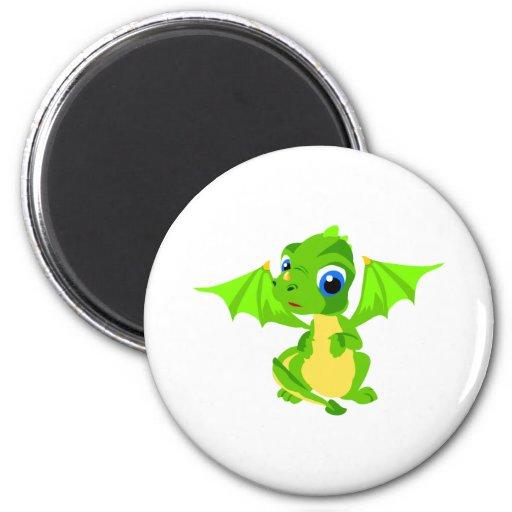 Dragon timide de bébé magnets pour réfrigérateur